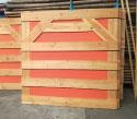 houten panelen met flanel