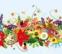 Spandoek bloemen