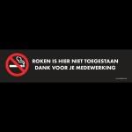 opzethek roken niet toegestaan