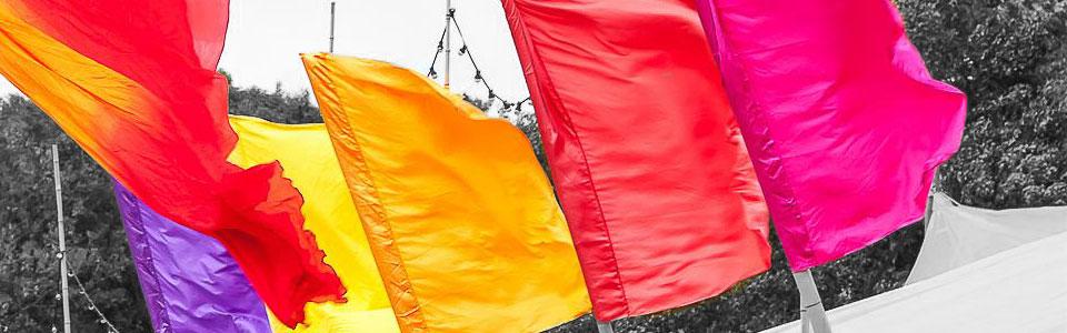 vlaggen bamboemasten